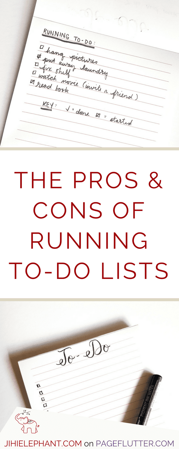 Running to-do lists and productivity. Might have to try this in my Bullet Journal.