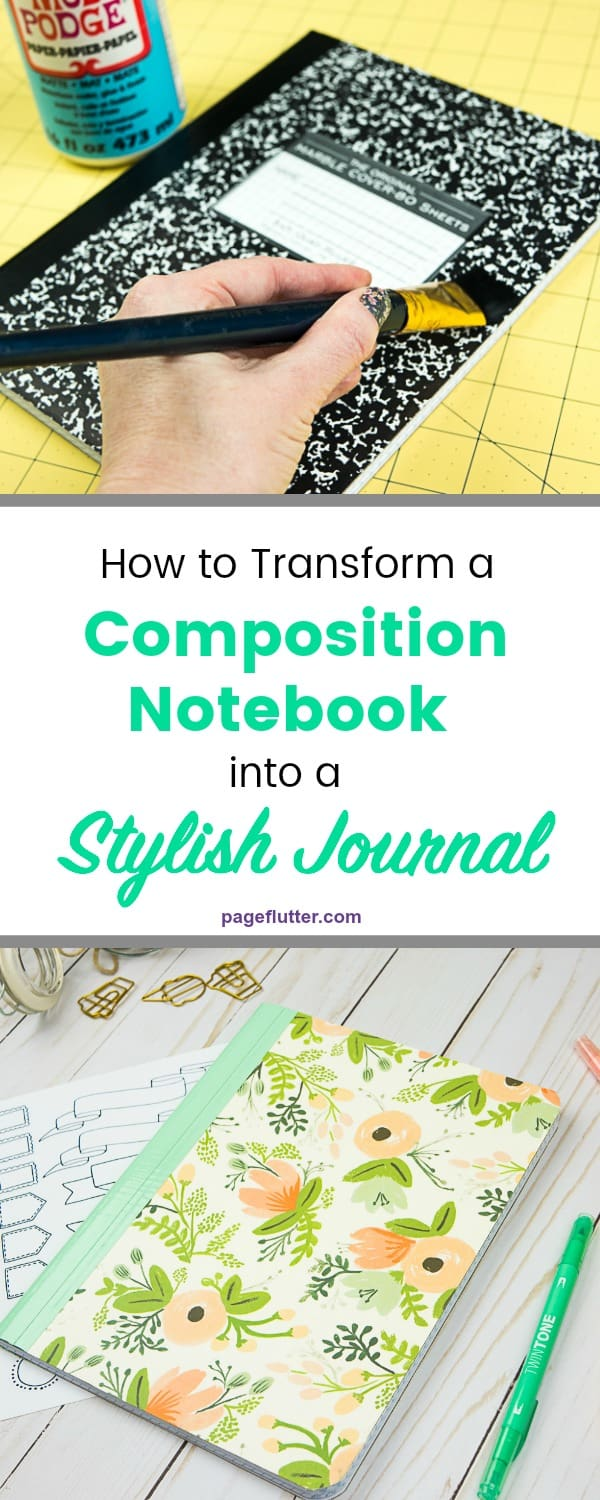 How To Turn A Composition Notebook Into Stylish Diy Journal Page Pin Buck Boost Schematic On Pinterest From Boring This Would Make Cute Bullet