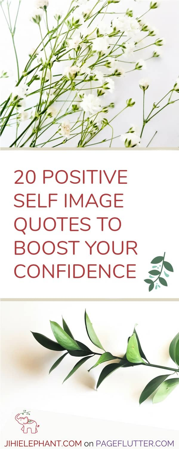 Use positive self image quotes & happy quotes in your bullet journal or planner to boost your confidence and self-esteem. #bulletjournal #quotes
