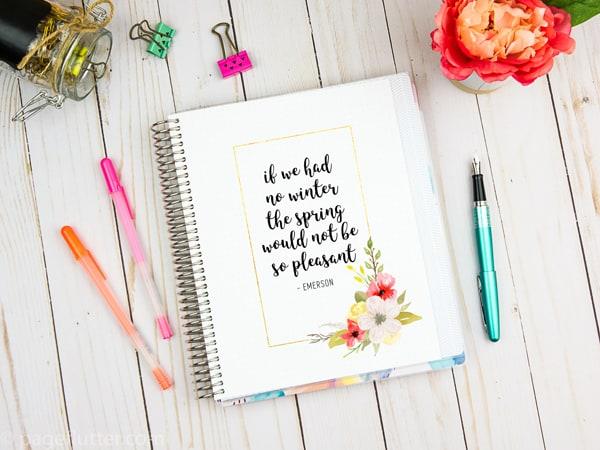 3 Free Floral Art Spring Planner Printables