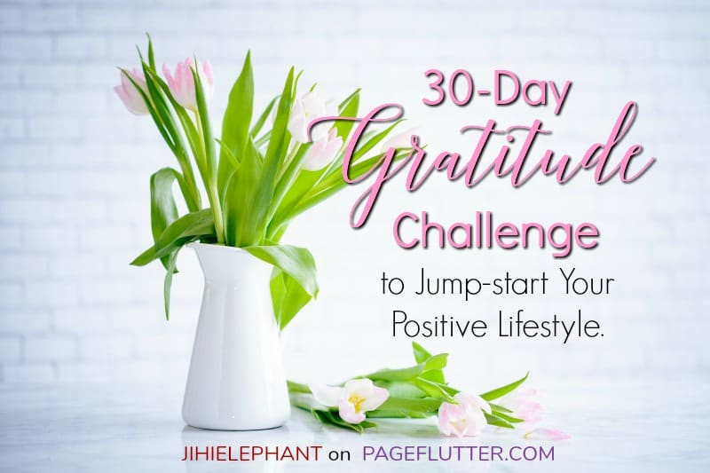 30-Day Gratitude Challenge for adding mindfulness to your daily life. Perfect journaling prompts. #mindfulness #gratitude