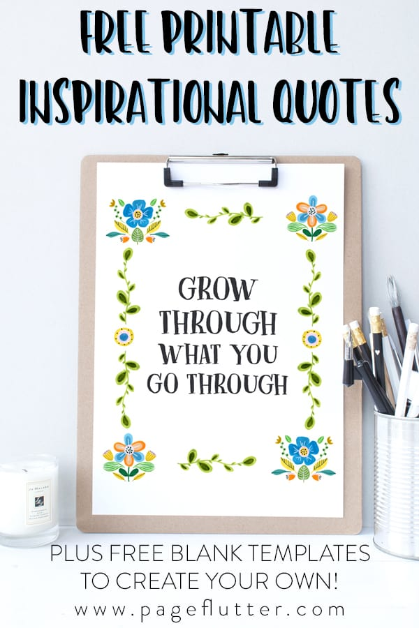 free printable inspirational quotes free template page flutter