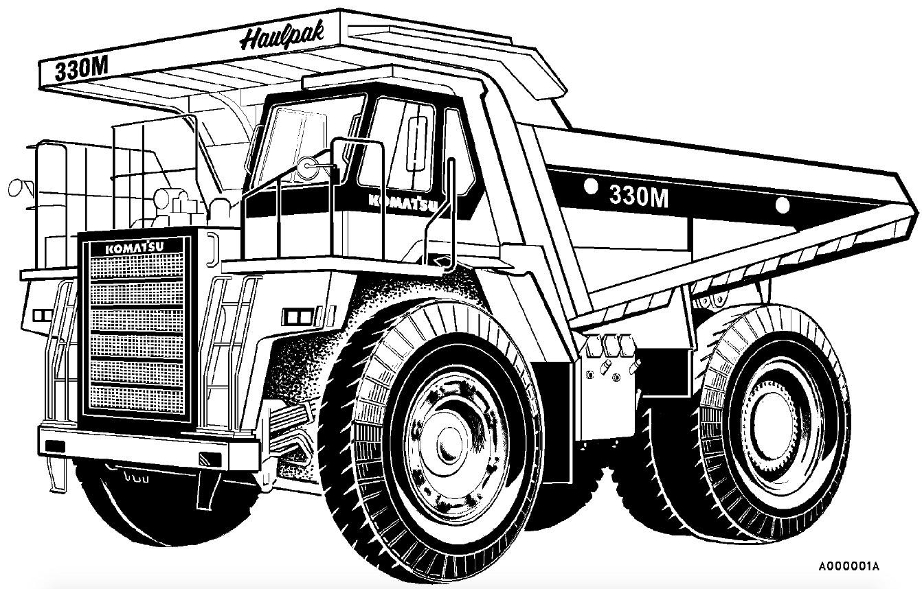 Komatsu Dump Truck 330m Factory Service Amp Shop Manual