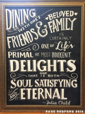 Hand-Lettered Chalkboards for Weddings