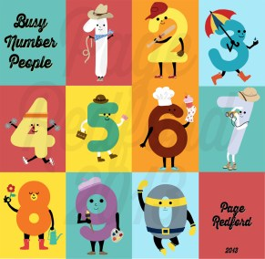 Busy number people illustrations. Photoshop, illustrator.