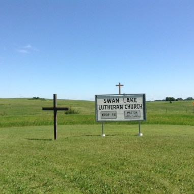 Swan Lake Lutheran sign
