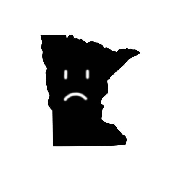 Minnesota - US state. Territory in black color. Vector illustration. EPS 10
