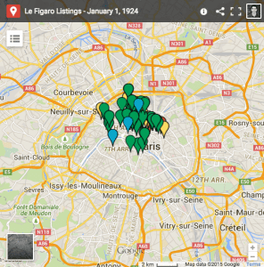 Map of all January 1 listings from Le Figaro