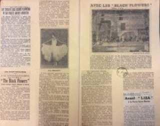 A page from a recueil de presse about Liza, a music-hall show that opened at the Théâtre de la Porte Saint-Martin