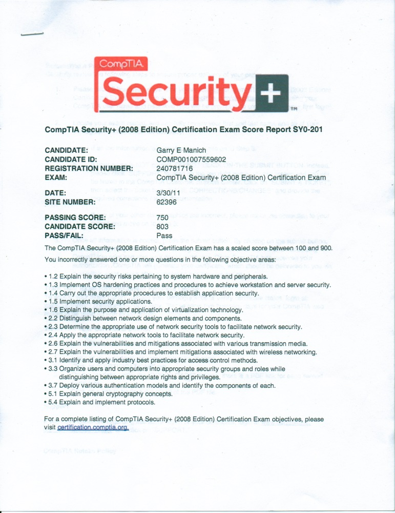 networking resume comptia certifications college of the redwoods