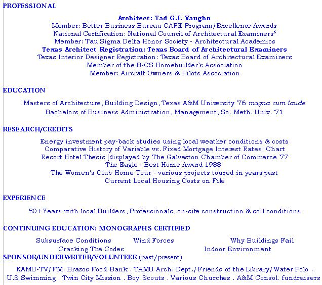resume science student