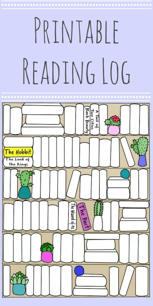 Printable Reading Log | Pages and Pekoe
