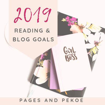 2019 Reading and Blog Goals