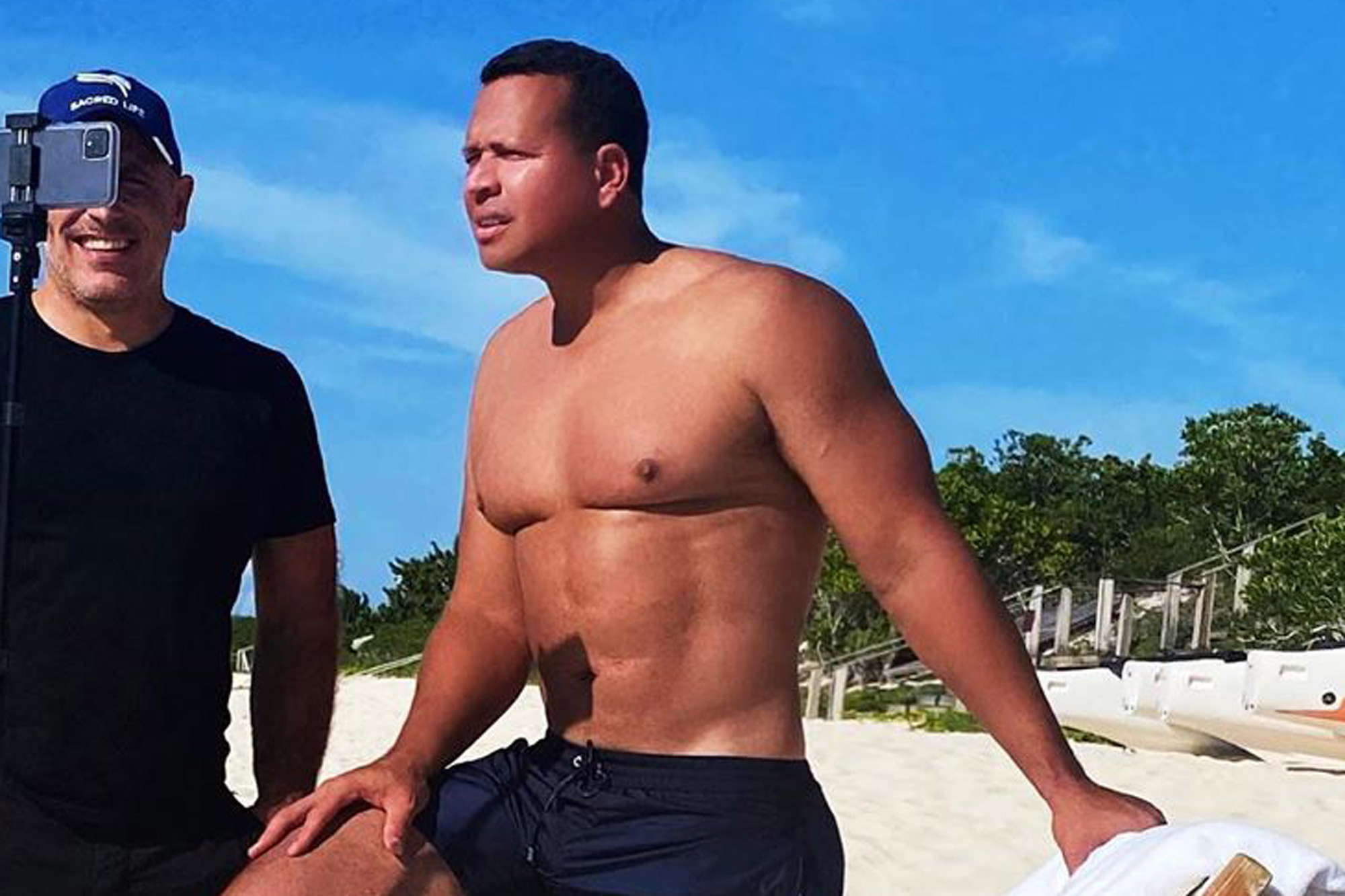 shirtless male celebs - Alex Rodriguez