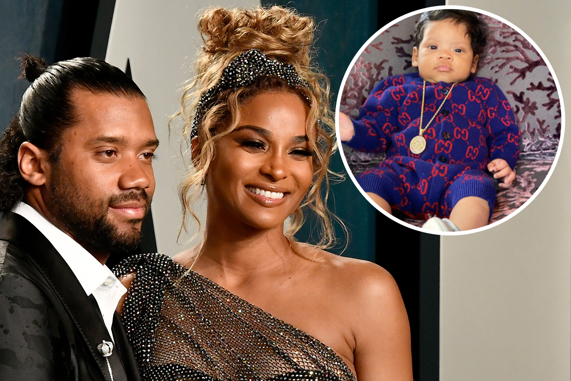 Ciara And Russell Wilson S Son Win Sports 450 Gucci Onesie