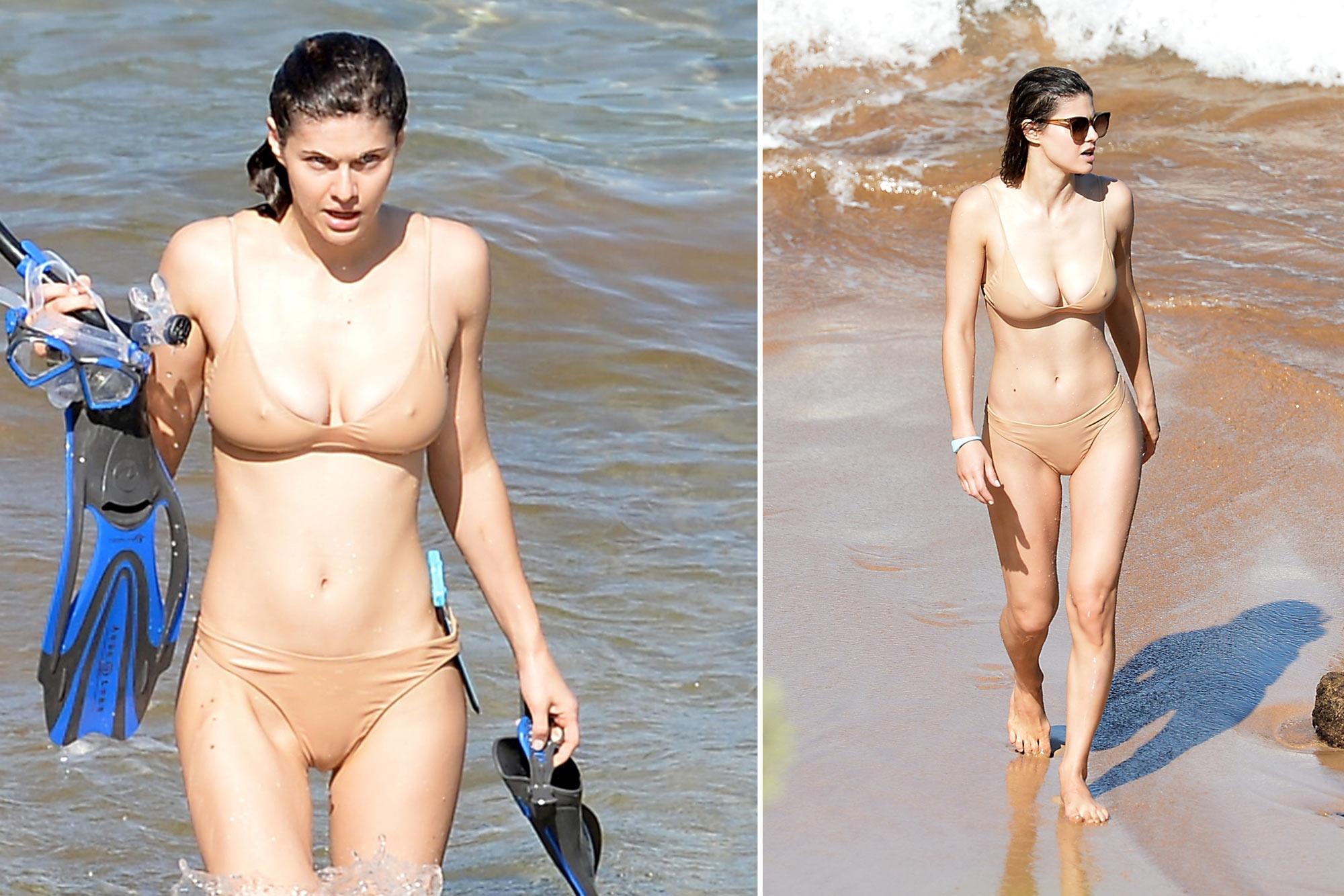 Alexandra Daddario steams up the beach in a bikini more star snaps