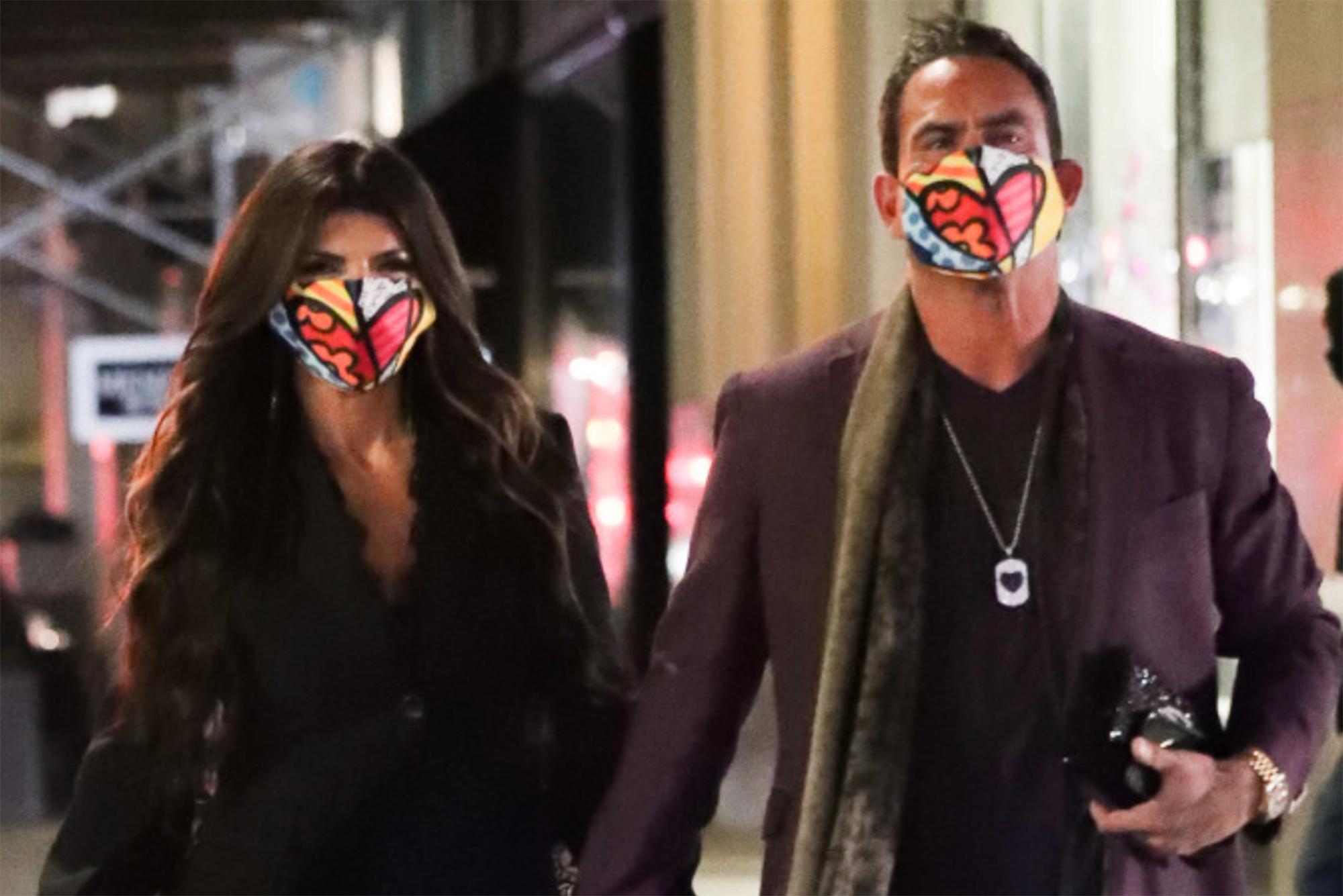 Teresa Giudice and boyfriend Luis Ruelas wear matching face masks