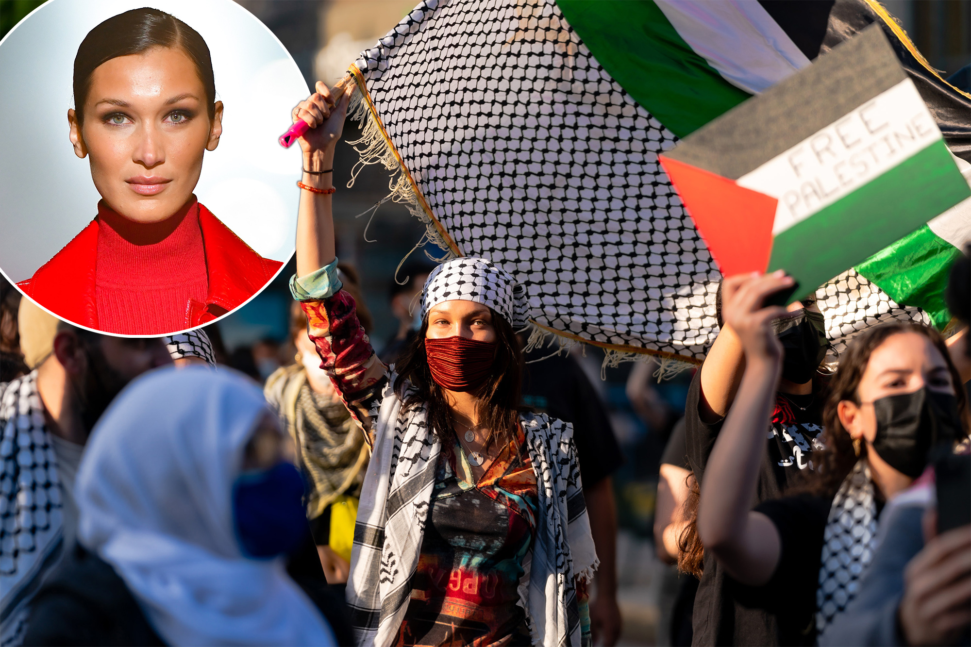 Israel blasts Bella Hadid for joining pro-Palestinian march