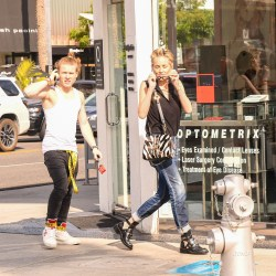 Sharon Stone Shops With Eldest Son Roan In Beverly Hills