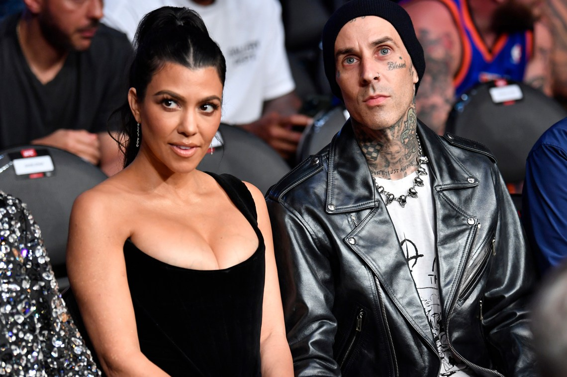 Travis Barker and girlfriend Kourtney Kardashian