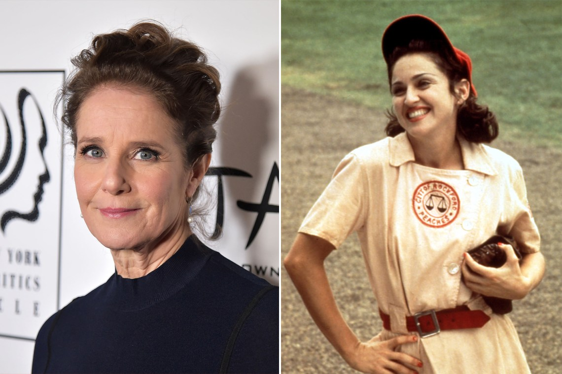 """Debra Winger and Madonna in """"A League of Their Own."""""""