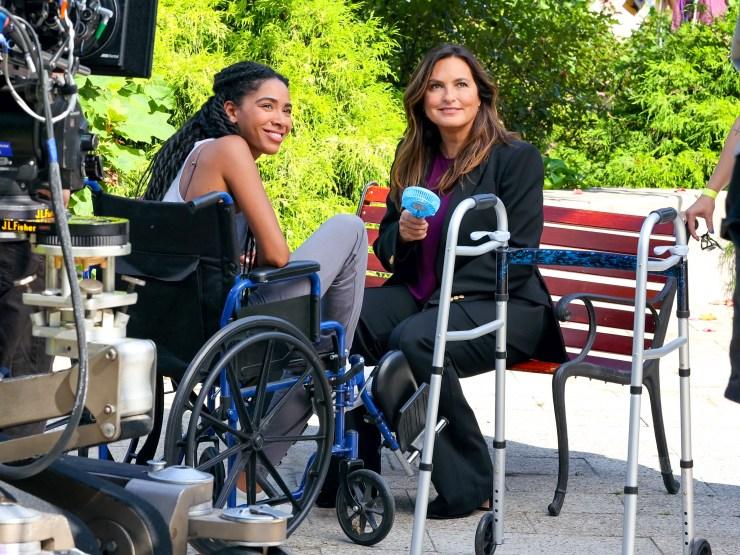 Mariska Hargitay at 'Law and Order: Special Victims Unit' film set