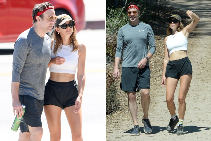 Jason Sudeikis spotted on a hike with rumored girlfriend Keeley Hazell