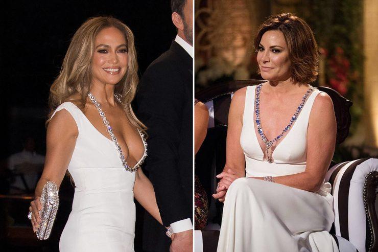 Luann de Lesseps compares her plunging white dress to Jennifer Lopez's