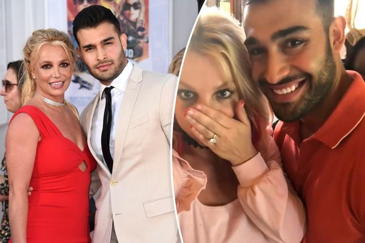 Britney Spears' fiancé, Sam Asghari, laughs off trolls asking about prenup