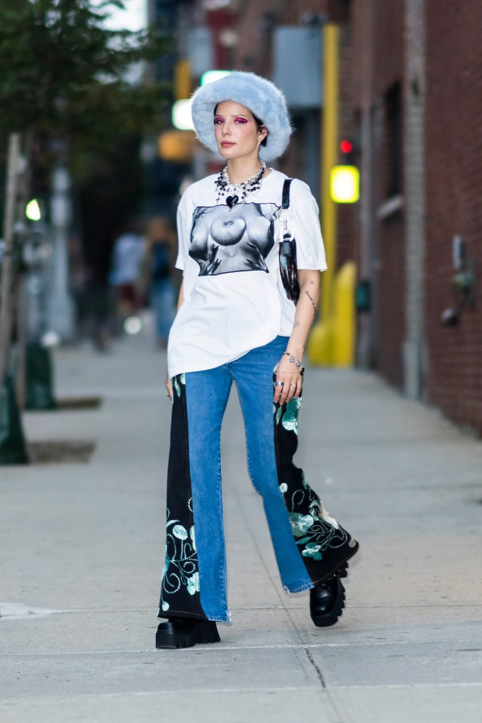 EXCLUSIVE: Halsey Looks Fashionable as She Steps Out in New York City
