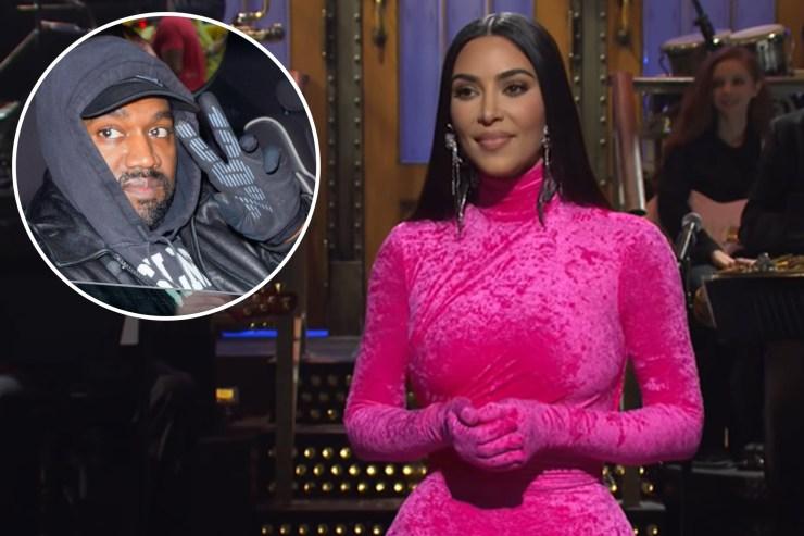 Kim Kardashian kept 'making eyes' at Kanye West during 'SNL'
