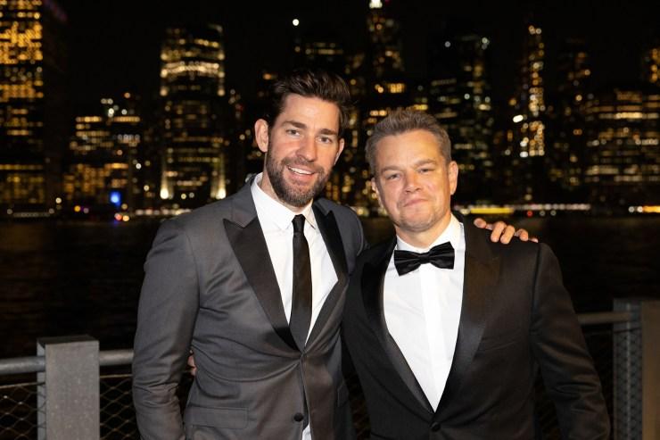 Matt Damon, John Krasinski attend star-studded Brooklyn Black Tie Gala