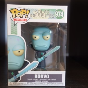 Korvo Funko Pop! On Display at Pages N Pixels Comic Book Shop, Halifax Uk