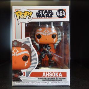 Star Wars Ahsoka Funko Pop! On Display at Pages N Pixels Comic Book Shop, Halifax Uk