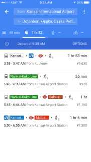 Google Maps allows you to check transit fees