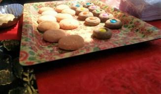 Rose and thumbprint chocolate cookies