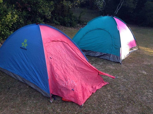 Camping at Stage 3 of the MacLehose Trail