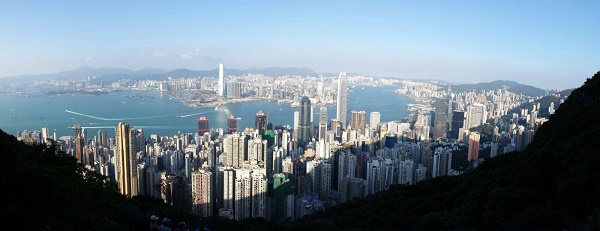 View of the Hong Kong skyline from the Peak