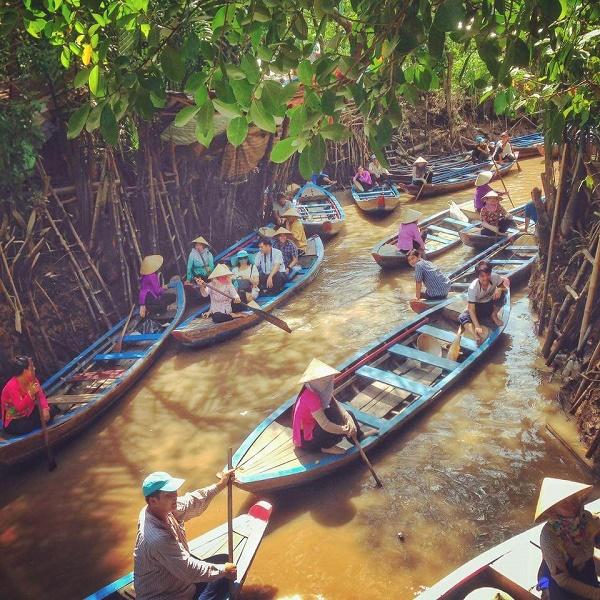 Boats on the Mekong Delta, Vietnam