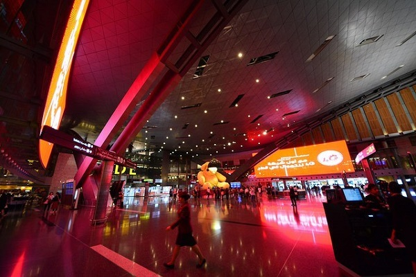 Hamad International Airport in Doha Qatar
