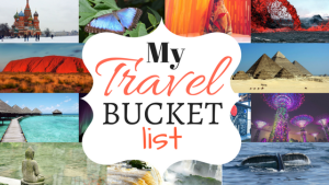 40 blogs in 40 days - Bucket List