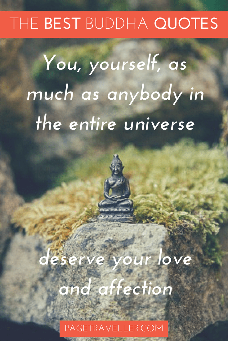 Buddha Quote Love - Figure on Rock