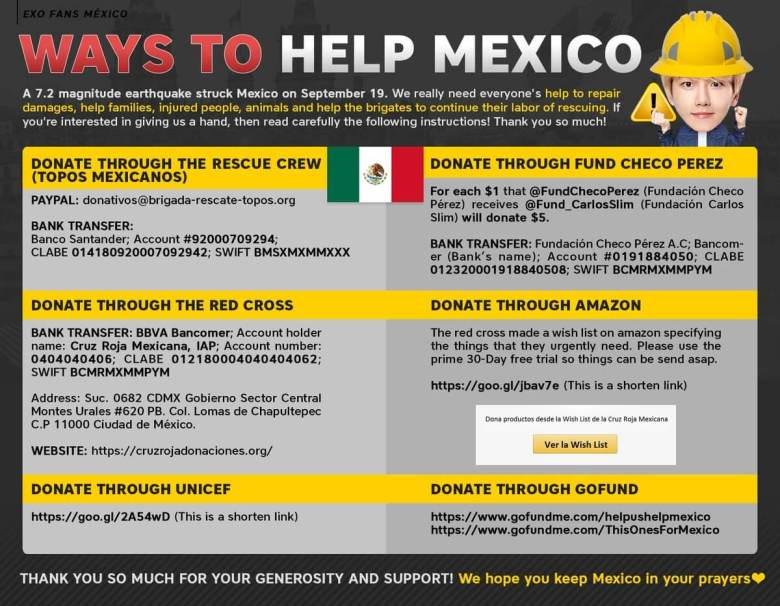 earthquakes in mexico city - help and donate