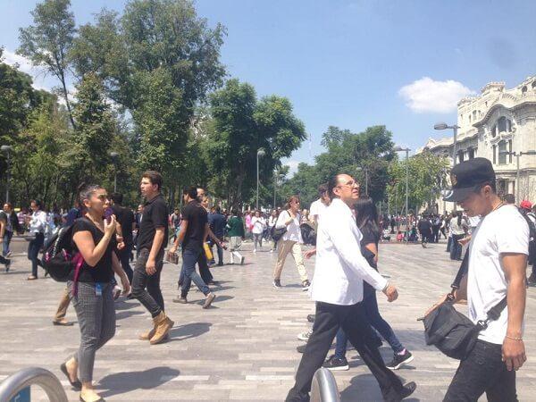 earthquakes in mexico city bellas-artes park