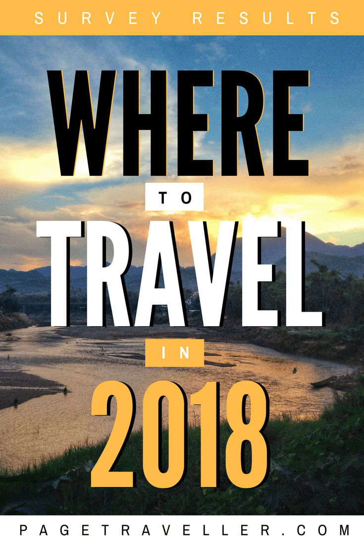 Where to travel in 2018 - Big Fat Travel Questionnaire 2018 Results