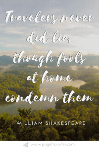 17 Shakespeare Quotes About Travel That Will Inspire You To Explore