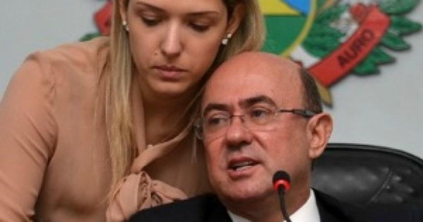 José Geraldo Riva, com Janaina Riva, filha e herdeira política