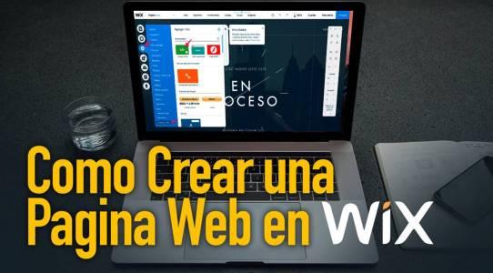 crear pagina web gratis con wix