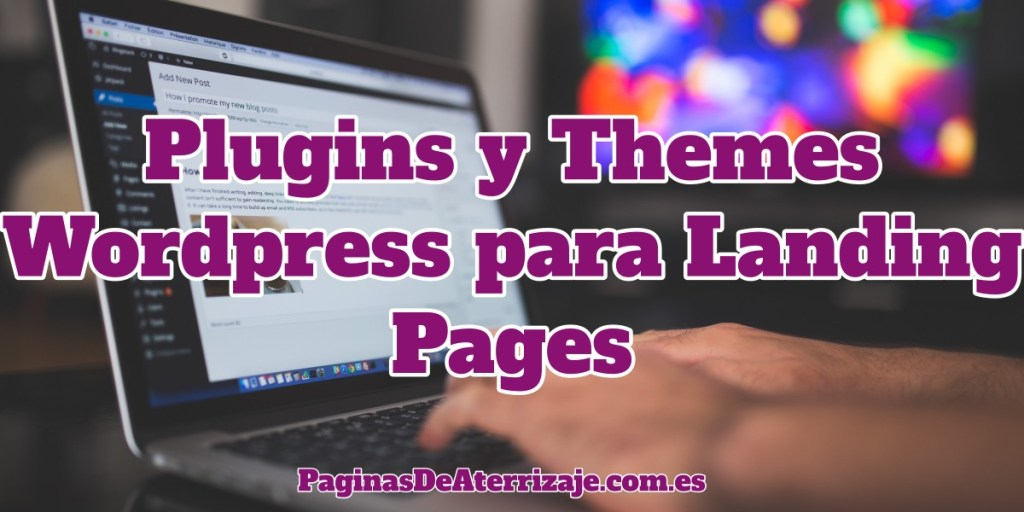 Crear landing pages en wordpress