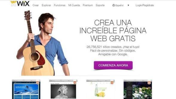 crear paginas gratis